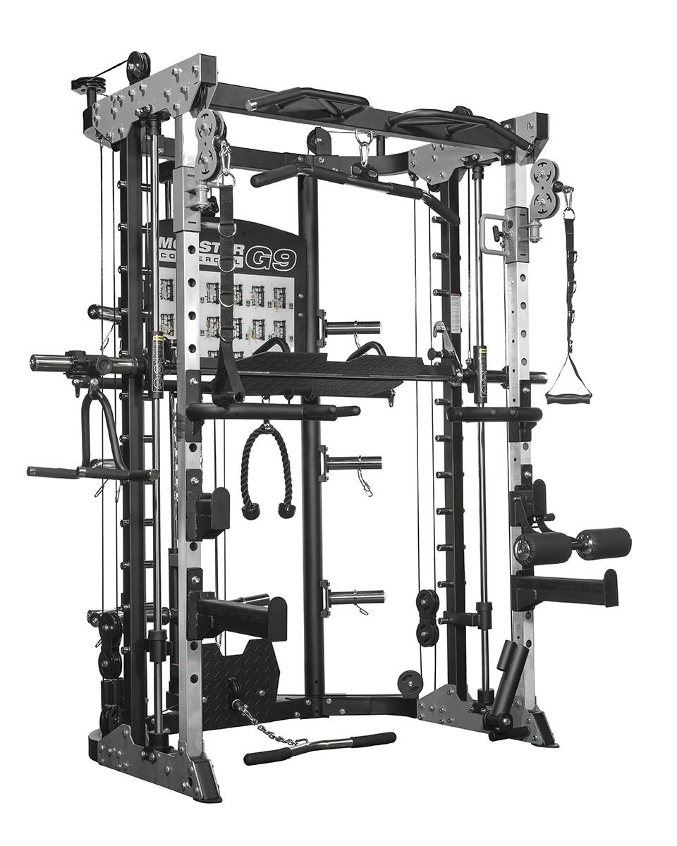 Force USA G9 Functional Trainer, Power Rack, Smith Machine, Leg Press et accessoires - 100% Professionnel