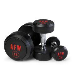 Lote de Mancuernas de Goma Pro 2,5 kg - 15 kg - 105001/06 AFW (Peso Libre)