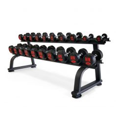 2 Racks + Mancuernas de Goma Pro 2,5 kg - 50 kg - 105031_01/20 AFW (Peso Libre)
