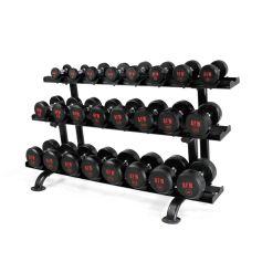 Rack + Mancuernas de Goma Pro 2,5 kg - 30 kg - 105025_01/12 AFW (Peso Libre)