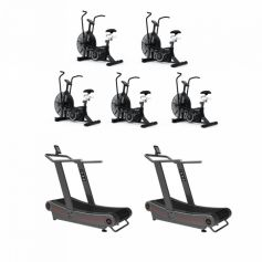 Titanium Strength Pack 5 AirBike + 2 Curved Treadmill