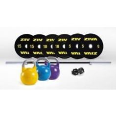 Performance Competition Kit (Barre 2,20 + colliers + bumper  10.15.20 -2uts- + kit competition 12.16.20 kgs) de ZIVA