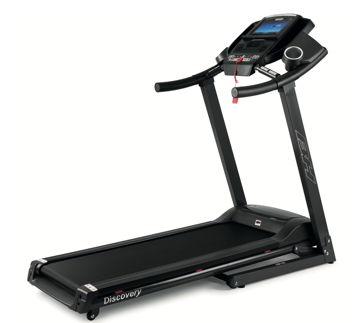 BH Fitness Discovery TFT Tapis de Course avec Television, Ecran Tactile, Internet, et Réalité Virtuelle