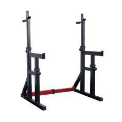 Bodymax Rack de Sentadillas Ajustable con fondos y brazos de seguridad