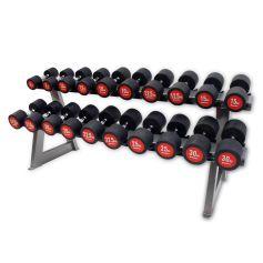 Pack de Mancuernas Bodymax 5Kg -30Kg + Rack Horizontal (10 pares)