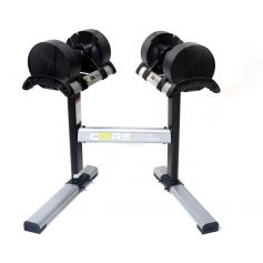CoreHomeFitness Haltères Réglables & Rack (2 - 20kg)